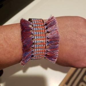Stella & Dot Colorful Fringe Cuff Bracelet